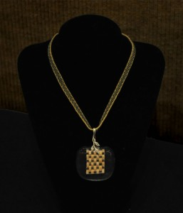 Woven Necklace and Pendant